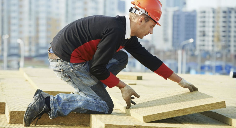 Handwerker auf einer Baustelle