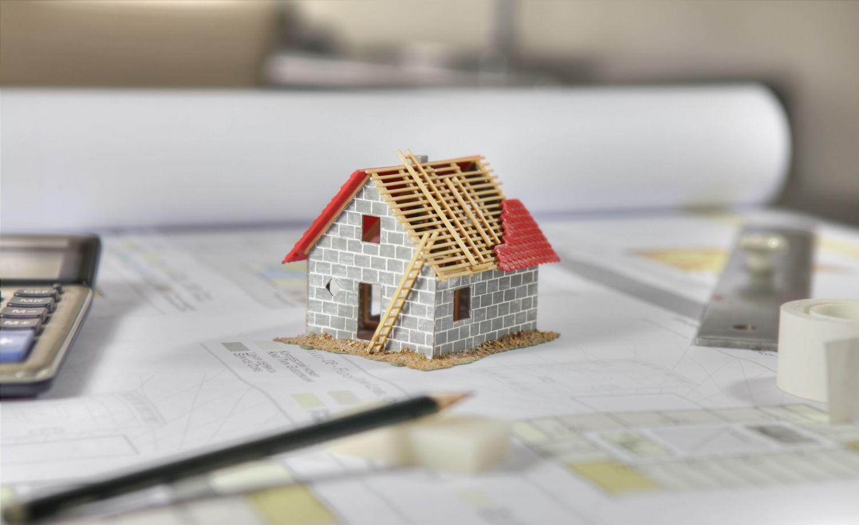 Modell eines Wohnhauses; Thema: OpenBIM